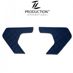 Türverkleidung 2er-Set Kunstleder-Farbe dunkelblau
