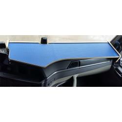 MAN TGX  ab 2020 durchgehender LKW-Tisch Kante beige Antirutschmatte blau