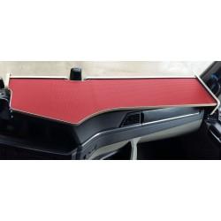 MAN TGX  ab 2020 durchgehender LKW-Tisch Kante beige Antirutschmatte rot