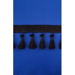 LKW-Gardine Farbvariante blau atoll - Quasten schwarz